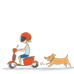 狗狗追騎機車的人 拷貝
