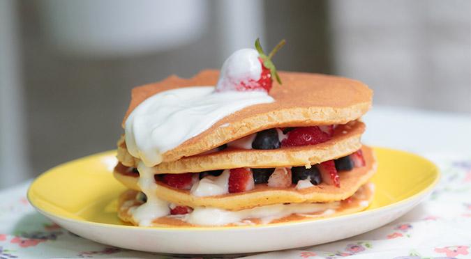 寵物食譜-新鮮莓果優格鬆餅