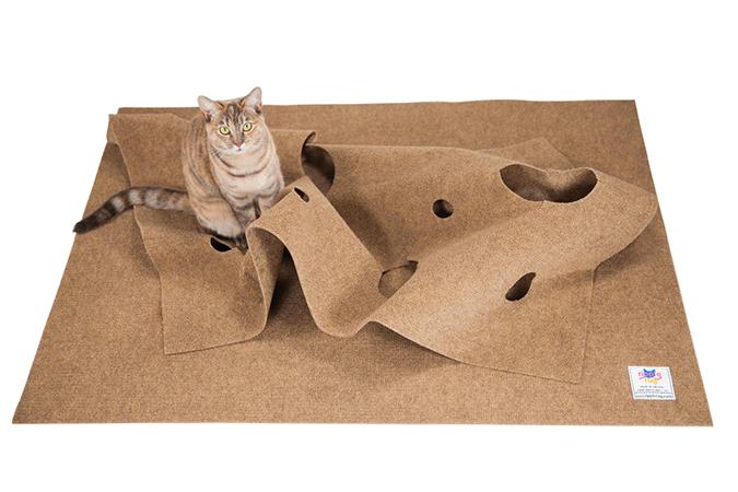 貓奴必拜搶手好物-Ripple Rug貓洞遊戲毯