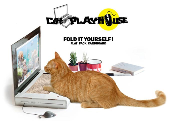貓奴必拜搶手好物-Suck UK手提電腦貓抓板