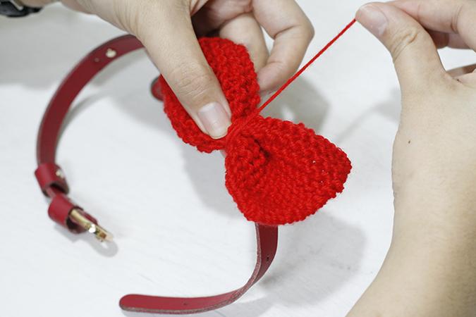 貓奴手作-超簡單針織領結-固定