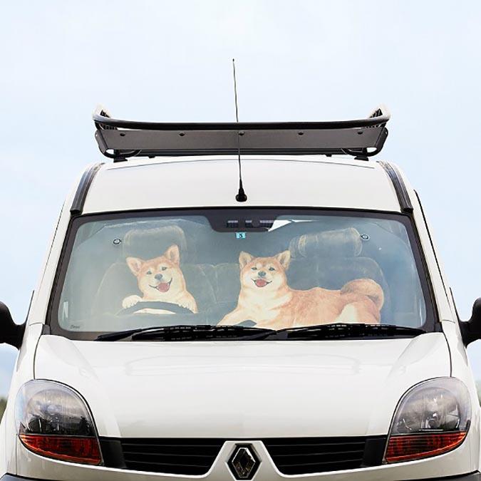柴犬趣味雜貨-汽車遮陽罩1
