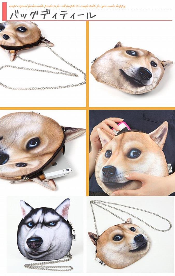 柴犬趣味雜貨-狗頭肩包