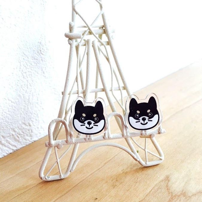 柴犬趣味雜貨-tocotoco-柴犬耳環