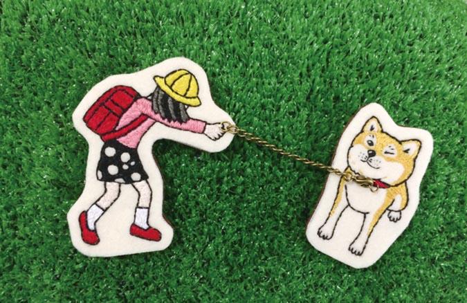 柴犬趣味雜貨-我不要走胸針3