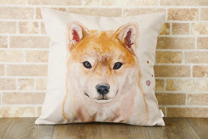 柴犬趣味雜貨-手繪抱枕