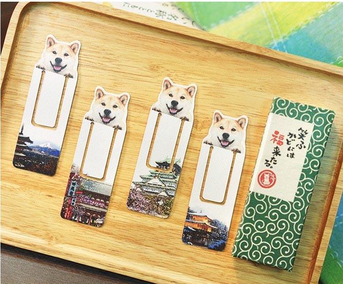 柴犬趣味雜貨-柴犬maru-書籤禮盒