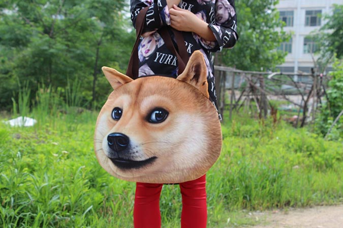 柴犬趣味雜貨-狗頭肩包4