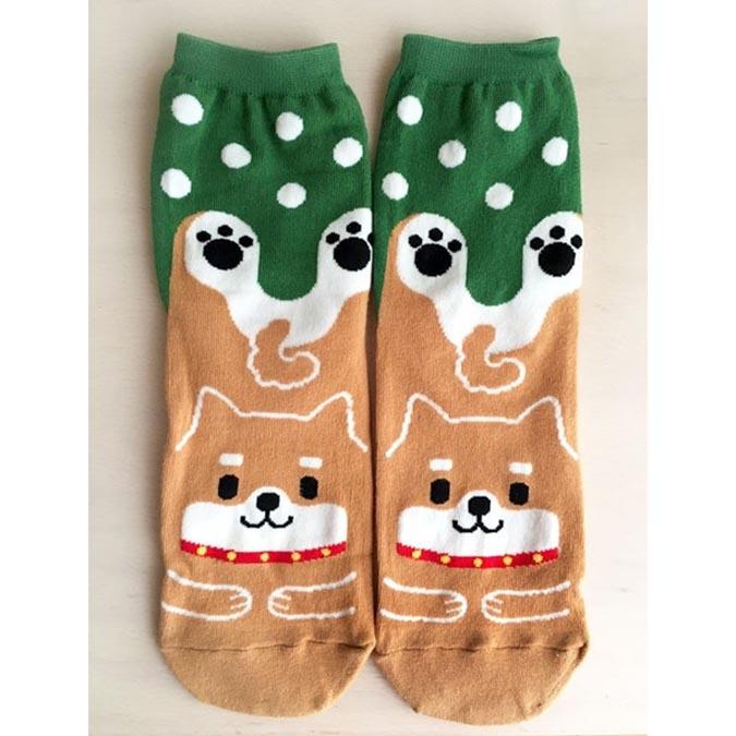 柴犬趣味雜貨-tocotoco-柴犬襪子