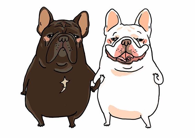 熱情粉絲為控肉、鼻康&肉肉畫的插畫1