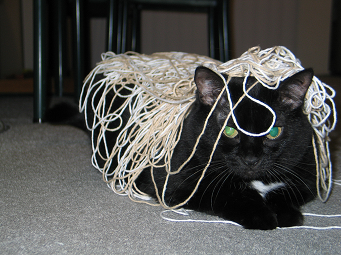 Making a mess with string
