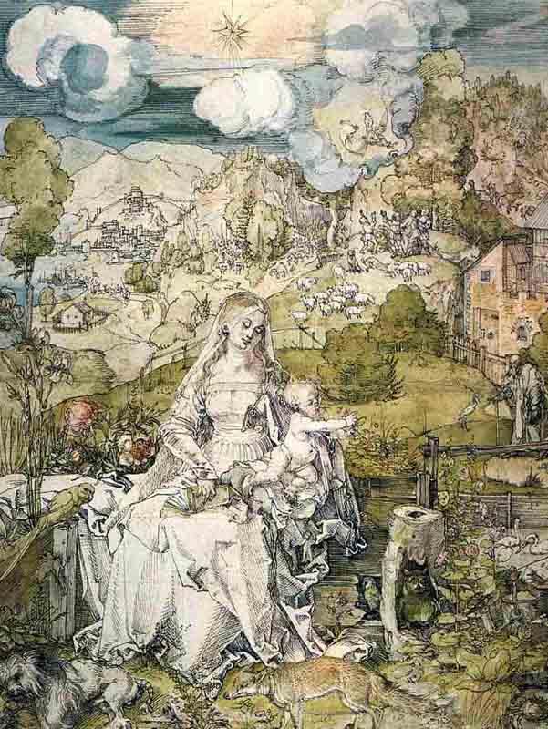 雪納瑞的身影,最早出現於北歐藝術宗師杜勒的水彩名畫中